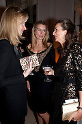 EUGENIE HANMER; PIPPA VOSPER; NATALIE MOUNTACK, Harper's Bazaar Women Of the Year Awards 2011. Claridges. Brook St. London. 8 November 2011. <br /> <br />  , -DO NOT ARCHIVE-© Copyright Photograph by Dafydd Jones. 248 Clapham Rd. London SW9 0PZ. Tel 0207 820 0771. www.dafjones.com.