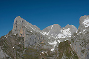 The Remoña cliff from Fuente Dé cable station,  Picos de Europa  National Park, Cantabria, Spain