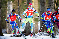 Jakov Fak (SLO) competes during Men 12,5 km Pursuit at day 3 of IBU Biathlon World Cup 2015/16 Pokljuka, on December 19, 2015 in Rudno polje, Pokljuka, Slovenia. Photo by Ziga Zupan / Sportida