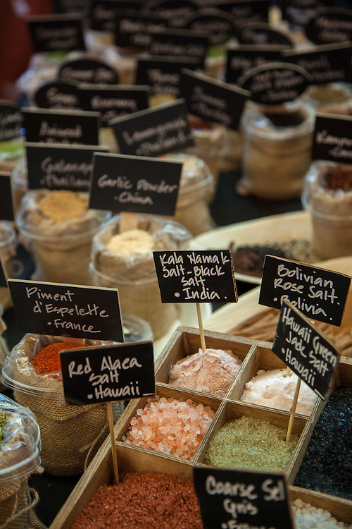 A picturesque display of spices at the Fancy Food Show in New York City