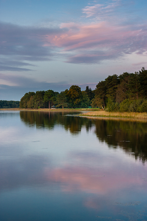 The landscape of the Broceliande forest, near the french city of Rennes, in Brittany, includes some man-made lakes, called Etangs.