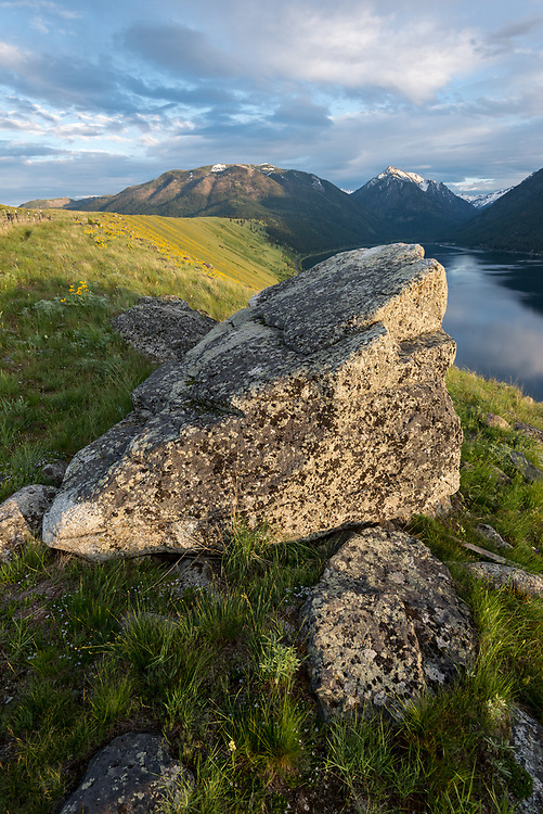 Boulders on the Wallowa Lake moraine in Northeast Oregon.