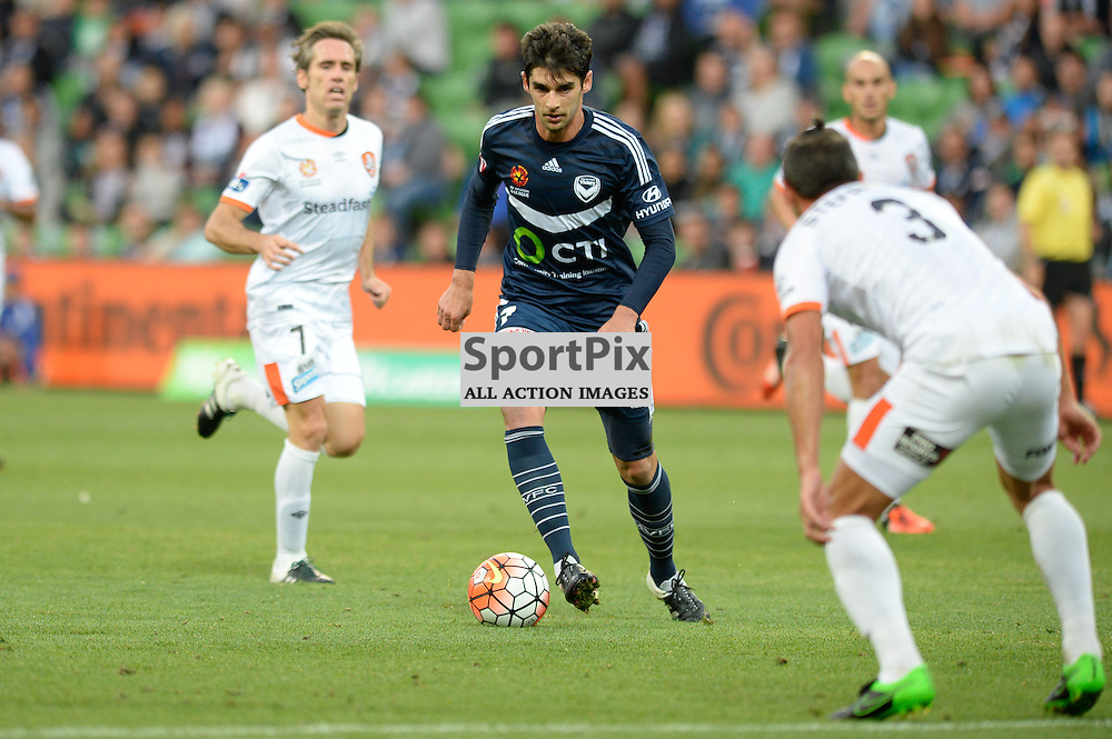 Gui Finkler of Melbourne Victory - Hyundai A-League, January 15th 2016, RD15 match between Melbourne Victory FC v Brisbane Roar  FC in a 4:0 win to Victory in a comfortable win over Roar at Aami Park,  Melbourne, Australia. © Mark Avellino | SportPix.org.uk