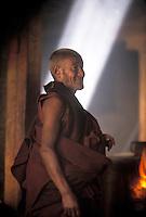 Monk at Gandon Monastery, Tibet.Photo by Owen Franken
