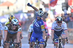 March 23, 2019 - Sanremo - Foto Gian Mattia D'Alberto / LaPresse.23/03/2018 Milano (Italia) .Sport Ciclismo.Milano-Sanremo 2019 - edizione 110 - da Milano a Sanremo (291 km) .Nella foto: Julian Alaphilippe vince la milano sanremo..Photo Gian Mattia D'Alberto / LaPresse.March 23, 2018 Milano (Italy).Sport Cycling.Tirreno-Adriatico 2019 - edition 110 - Milano to Sanremo (182 miles) .In the pic: Julian Alaphilippe (Credit Image: © Gian Mattia D'Alberto/Lapresse via ZUMA Press)