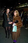 ELIZA CRAWFORD; SHELAGH JOHNSON, Patsy Kensit turns on Burlington Arcade Christmas Lights, Burlington Arcade, London, W1. 26 November 2008 *** Local Caption *** -DO NOT ARCHIVE -Copyright Photograph by Dafydd Jones. 248 Clapham Rd. London SW9 0PZ. Tel 0207 820 0771. www.dafjones.com