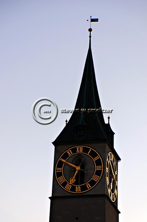 St Peters Clock, Zurich Switzerland