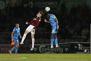 Ryan Watson and Rohan Ince <br />    during the EFL Sky Bet League 2 match between Northampton Town and Cheltenham Town at the PTS Academy Stadium, Northampton, England on 29 December 2019.