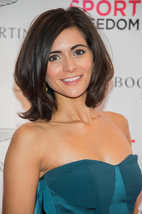 Lucy Verasamy, ITV weather - UK charity, Sport for Freedom (SFF), marks Anti-Slavery Day 2015 by hosting a charity Gala Dinner, supported by Aston Martin, on Thursday 15th October at Stamford Bridge, home of Chelsea Football Club. This inaugural event brought together people from the world of sport, entertainment, media, and business to unite behind a promise to tackle the issue of modern day human trafficking and slavery.  <br /> Hosted by Sky presenters Sarah-Jane Mee and Jim White, the Sport for Freedom Gala Dinner includes guests such as jockey AP McCoy OBE; Denise Lewis, former British Olympic Gold Medal winner; BBC Strictly star, Brendan Cole; Al Bangura, former Watford FC player and Sport for Freedom Ambassador who was trafficked from Africa to the UK at the age of just 14yrs old; Made in Chelsea star, Ollie Proudlock; ITV weather presenter, Lucy Verasamy; Sky Sports F1 presenter and SFF Ambassador, Natalie Pinkham; Premier League footballers Ryan Bertrand of Southampton FC and Troy Deeney of Watford FC and champion boxer, Anthony Joshua; and The UK's first independent Anti Slavery Commissioner, Kevin Hyland OBE, who highlighted the issues of modern day slavery that face the UK and world today. <br /> The evening concluded with chart topping music from 'Naughty Boy'. <br /> Sport for Freedom are also joining forces with the Premier League Academies for an international  'Football for Freedom' tournament with their U16's players that will also involve educating those taking part about the issues surrounding modern day slavery. The final will take place at Liverpool FC's Academy on Anti-Slavery Day, 18th October.