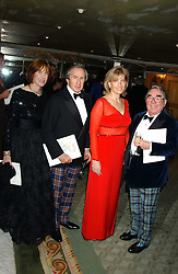 Left to right, SIR & LADY JACKIE STEWART, HRH The COUNTESS OF WESSEX and RONNIE CORBETT at the Dyslexia Awards Dinner attended by HRH The Countess of Wessex held at The Dorchester Hotel, Park Lane, London on 9th November 2005.<br />
