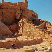Section of Wupatki Pueblo - Wupatki National Monument, AZ