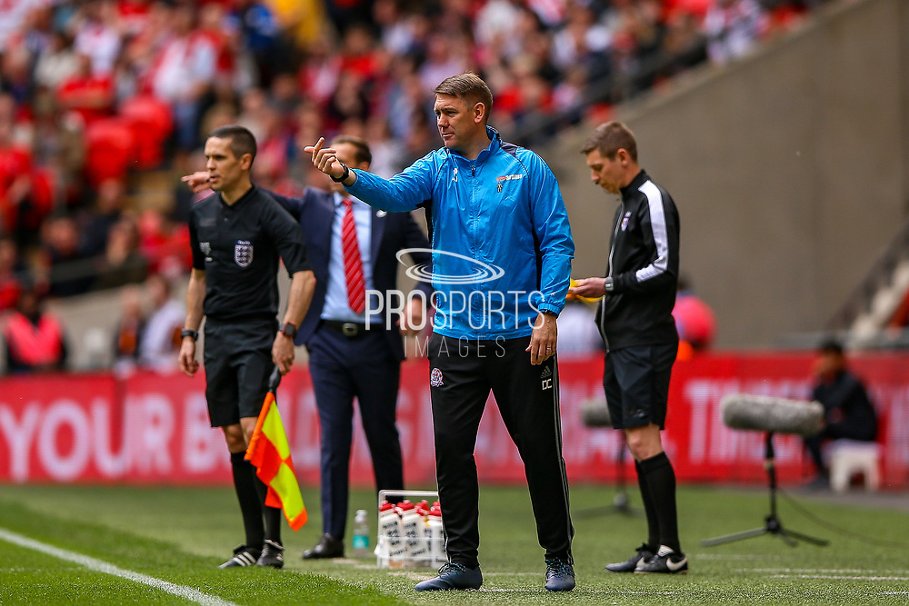 AFC Flyde Manager Dave Challinor during the FA Trophy final match between AFC Flyde and Leyton Orient at Wembley Stadium on 19 May 2019.