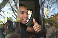 20090622: Johannesburg, SOUTH AFRICA - Brazil National Team enjoy day off from the FIFA Confederations Cup 2009. In picture: Robinho leaving Sunny Park hotel. PHOTO: CITYFILES