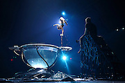 I like this image because it reminds me of how lucky I am to do my job. I was invited to come behind the scenes of the traveling Cirque Du Soleil show at Atlanta Station. It was a cool to see how hard some of these performers work in order to get their moves right.<br /> <br /> Cirque Du Soleil Amaluna performer, Luliia Mykhailova, practices her hand balancing act as her trainer, Mikhail Galkin, sits on the steps leading to the &quot;water bowl&quot; during a rehearsal under the Grand Chapiteau at Atlantic Station on Wednesday in Atlanta. (Staff Photo: David Welker)