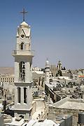 church tower bethlehem, west bank, palestine, israel
