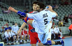 Frantisek Sulc (5) of Slovakia during 21st Men's World Handball Championship 2009 Main round Group I match between National teams of Slovakia and Korea, on January 24, 2009, in Arena Zagreb, Zagreb, Croatia.  (Photo by Vid Ponikvar / Sportida)