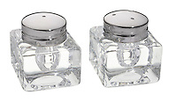 crate and barrel glass salt and pepper shakers