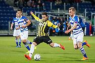ZWOLLE, PEC Zwolle - Vitesse, voetbal, playoff Europa League, seizoen 2014-2015, 21-05-2015, IJsseldelta Stadion, Vitesse speler Valeri Qazaishvili (M) scoort de 1-2, doelpunt, PEC Zwolle speler Maikel van der Werff (R).