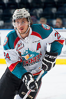 KELOWNA, CANADA - MAY 13: Tyson Baillie #24 of Kelowna Rockets skates against the Portland Winterhawks on May 13, 2015 during game 4 of the WHL final series at Prospera Place in Kelowna, British Columbia, Canada.  (Photo by Marissa Baecker/Shoot the Breeze)  *** Local Caption *** Tyson Baillie;