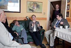 © London News Pictures. 14/04/2011. Shadow Home Secretary Yvette Cooper visits Margate to discuss crime and anti-social behaviour with a local neighbourhood watch group and residents in Garlinge Ward. Picture credit should read MANU PALOMEQUE/LNP