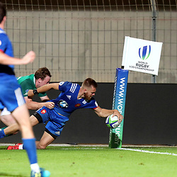 Maxime Marty of France U20 scores a try during the U20 World Championship match between France and Ireland on May 30, 2018 in Perpignan, France. (Photo by Manuel Blondeau/Icon Sport)