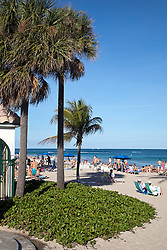 Ft. Lauderdale, Florida:  Beach area in January.