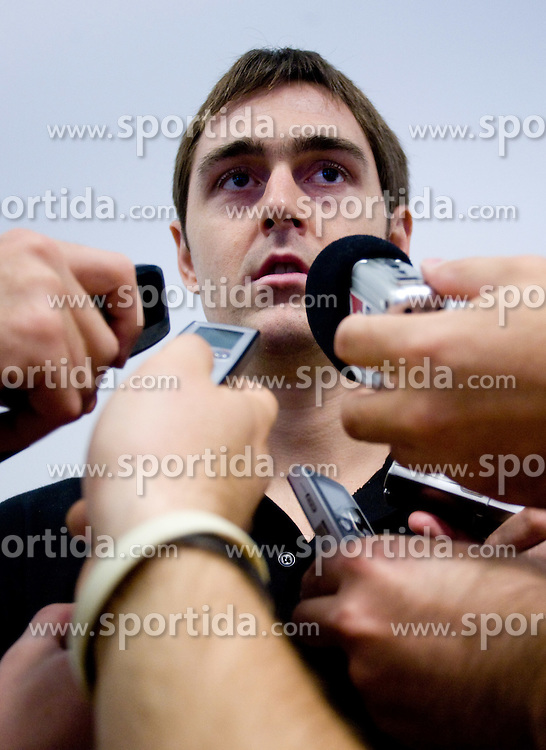 Erazem Lorbek (15) of Slovenia of Slovenia at the press conference  in a Andel's Hotel during Eurobasket 2009, on September 15, 2009 in  Lodz, Poland.  (Photo by Vid Ponikvar / Sportida)