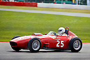 Car No 25 heads around Luffield. Silverstone CLassic - Pre '66 F1- 25/7/10.
