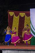 Indian Ethnic folk dancing during an ethnic festival in Jerusalem, Israel