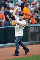 SAN FRANCISCO, CA - MAY 03: Recording artist Lars Ulrich of Metallica throws a baseball before the game between the San Francisco Giants and the Los Angeles Dodgers at AT&T Park on May 3, 2013 in San Francisco, California. The San Francisco Giants defeated the Los Angeles Dodgers 2-1. (Photo by Jason O. Watson/Getty Images) *** Local Caption *** Lars Ulrich