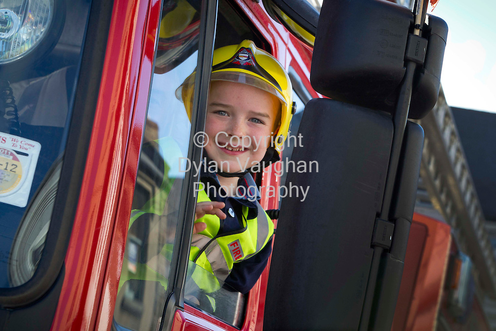 18/3/2013.Charlie Jordan aged 5 from Enfield Co. Meath pictured at the Thurles Parade in Tipperary on Sunday..Picture Dylan Vaughan.