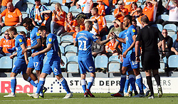 Rhys Bennett of Peterborough United celebrates scoring his goal with team-mates - Mandatory by-line: Joe Dent/JMP - 29/09/2018 - FOOTBALL - ABAX Stadium - Peterborough, England - Peterborough United v Blackpool - Sky Bet League One