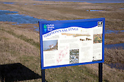 Simpson's saltings information board, Hollesley, Suffolk