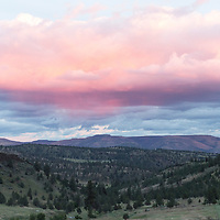 Sunset near Spray, Oregon