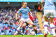 Manchester City Women forward Caroline Weir (19) in action during the FA Women's Super League match between Manchester City Women and Manchester United Women at the Sport City Academy Stadium, Manchester, United Kingdom on 7 September 2019.