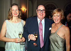 Left to right, The HON.NICHOLAS & MRS SOAMES and his sister the HON.EMMA SOAMES,<br />  at a party in London on 15th May 2000.OEB 39