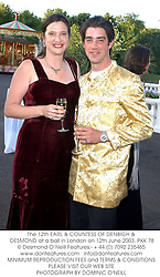 The 12th EARL & COUNTESS OF DENBIGH & DESMOND at a ball in London on 12th June 2003.PKK 78
