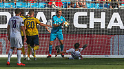 Arsenal goal keeper Emiliano Martinez (26) makes a save on a shot from Fiorentina defender Luca Ranieri (6) during an International Champions Cup game, Saturday, July 20, 2010, in Charlotte, NC. Arsenal defeated Fiorentina 3-0. (Brian Villanueva/Image of Sport)