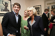 ED TRYON, LAURA PARKER BOWLES AND THE DUCHESS OF CORNWALL,  Norman Parkinson and Philip Treacy, an exhibition of photographs by Norman Parkinson and drawings by celebrated milliner Philip Treacy. ELEVEN Gallery. VICTORIA. LONDON. 3 July 2007.  -DO NOT ARCHIVE-© Copyright Photograph by Dafydd Jones. 248 Clapham Rd. London SW9 0PZ. Tel 0207 820 0771. www.dafjones.com.