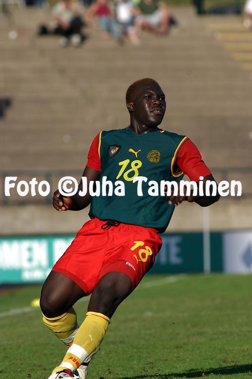 17.08.2003, Ratina Stadium, Tampere, Finland.FIFA U-17 World Championship - Finland 2003.Match 14: Group C - Yemen v Cameroon.Cedrick Deumaga - Cameroon.©Juha Tamminen