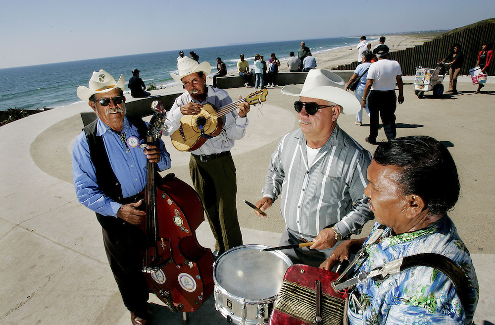 TIJUANA, MEXICO:  A Grupo Norteno band performs in the Las Playas area of Tijuana(at the Thomas Glassford and Jose Parral, inSight art project)