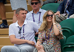 LONDON, ENGLAND - Saturday, July 6, 2019: Kim Sears, wife of Andy Murray, watches during the Gentlemen's Doubles second round match on Day Six of The Championships Wimbledon 2019 at the All England Lawn Tennis and Croquet Club. (Pic by Kirsten Holst/Propaganda)