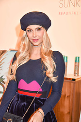 Sophie Hermann at the Sunkissed Cosmetics Launch,  15 Bateman Street, Soho, London England. 17 January 2018.