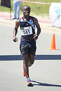 GEORGE, SOUTH AFRICA - OCTOBER 21: Mthunzi Mnisi of Athletics Gauteng North (AGN) during the ASA Race Walking Championship at Pacaltsdorp on October 21, 2017 in Goerge, South Africa. (Photo by Roger Sedres/Gallo Images)