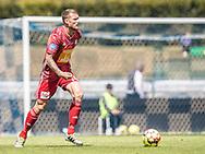 Nicolai Geertsen (Lyngby Boldklub) under træningskampen mellem Lyngby Boldklub og FC Helsingør den 3. juli 2019 på Lyngby Stadion (Foto: Claus Birch)