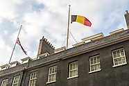 Belgian Flag in Downing Street 220316