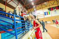 during basketball match between KK Krka Novo mesto and KK Tajfun Sentjur at Superpokal 2015, on September 26, 2015 in SKofja Loka, Poden Sports hall, Slovenia. Photo by Grega Valancic / Sportida.com