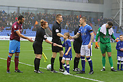 The start of the match during the EFL Sky Bet League 1 match between Oldham Athletic and Scunthorpe United at Boundary Park, Oldham, England on 28 October 2017. Photo by George Franks.