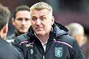 Aston Villa manager Dean Smith during the EFL Sky Bet Championship match between Aston Villa and Derby County at Villa Park, Birmingham, England on 2 March 2019.