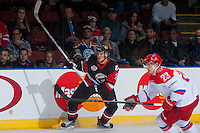 KELOWNA, CANADA - NOVEMBER 9: Noah Juulsen #3 of Team WHL skates against the Team Russia on November 9, 2015 during game 1 of the Canada Russia Super Series at Prospera Place in Kelowna, British Columbia, Canada.  (Photo by Marissa Baecker/Western Hockey League)  *** Local Caption *** Noah Juulsen;